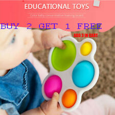 Baby Toys Montessori Exercise Board Rattle Puzzle Toy Colorful Kids Fidget Toys