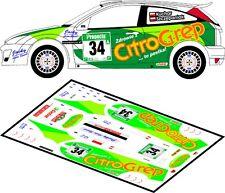 DECALS 1/43 FORD FOCUS RS WRC - #34 - KUCHAR - RALLYE NEW ZEALAND 2003 - D43134