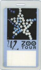 U2 1992 ZOO TV LAMINATED BACKSTAGE PASS AA blue