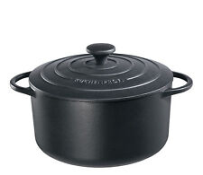 Küchenprofi - PROVENCE - runder Bratentopf, 22cm - schwarz