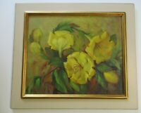 MARY CREAMER OIL PAINTING AMERICAN IMPRESSIONIST FLORAL FLOWERS EARLY CALIFORNIA