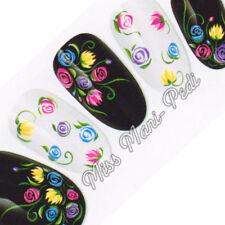Nail Art Water Transfers Stickers Wraps Decals Pastel Flowers Floral Summer Y077