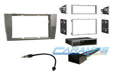 JAGUAR GRAY CAR STEREO COMPLETE RADIO INSTALLATION TRIM BEZEL KIT W WIRE HARNESS