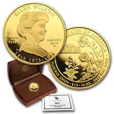 2013-W 1/2 oz Proof Gold Ellen Wilson Coin - Box and Certificate - SKU #78932