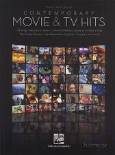 Contemporary Movie & TV Hits Piano Vocal Guitar Sheet Music Book