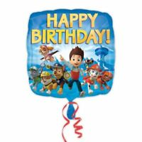 45.7cm Paw Patrol Puppy Pets Children's Happy Birthday Party Square Foil Balloon