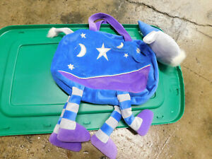 Sassafras Enterprises Whimsical Kids Wizard Magical Plush 3D Goat stars Tote Bag