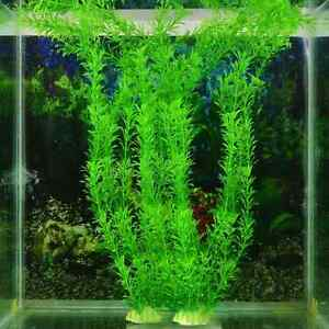 """13"""" Weighted Base Plastic Plant Aquarium Green Fish Tank Water Home Decor"""