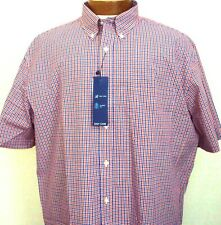 Button Front Casual Dress Shirt 3X Saddlebred SS Big and Tall NWT Blue Check New