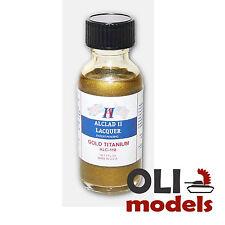 Titanium Gold Lacquer 1oz Bottle - ALCLAD II LACQUER 118