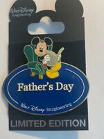 WDI Name Tag Mickey Mouse Father's Day Green Chair Newspaper Disney Pin LE (B)