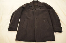 Authentic Guess Mens Wool Peacoat Charcoal Jacket Size M