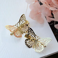 Women Girls Gold Butterfly Hair Clip Hair Pin Wedding Party Hair Access Jewelry