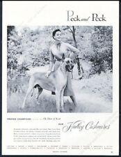 1954 Great Dane champion dog photo Peck & Peck Women's sweater vintage print ad