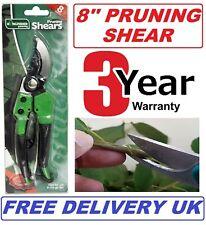 Pruning Shears Strong Carbon Garden Hand Pruner Secateurs Cutter Plants Tool UK