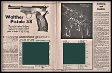 1964 Walther Pistole 38 Pistol Article w/Exploded View Parts List