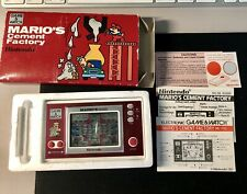 Nintendo Game & Watch marios Cement Factory impecable juego Mint