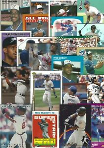 HUGE!  FRED McGRIFF 47 Different Baseball Card Lot with 4 Inserts