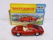 Lamborghini Miura rotmetallic near mint in box Matchbox K-24 King Size 1:43 1969