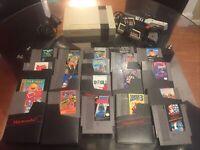 NES Console Bundle Nintendo System w/ Lot Of 20 Games, 2 Controllers, Duck Gun
