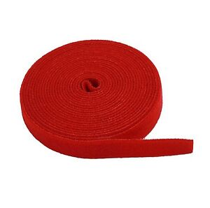 """New Red - 3/4"""" X 5 yard HOOK and LOOP FASTENING TAPE ROLL"""