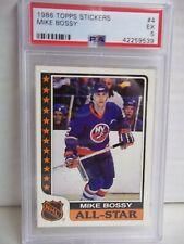 1986 Topps Stickers Mike Bossy PSA EX 5 Hockey Card #4 NHL HOF