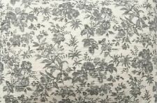 Pottery Barn Annamaria Reversible Floral Full/Queen F/Q Cotton Quilt ~ Gray