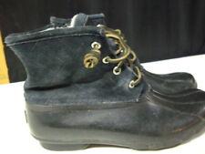 c6af45a007e8 Sperry Saltwater Duck Boots - Women s Size 10 Black zip side suede  waterproof