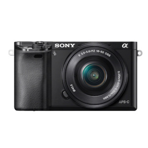 Sony A6000 ILCE-6000 E-mount Camera with 24.3MP, 16-50mm Lens, Black