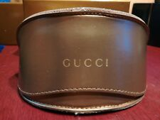 Gucci Sunglasses, Eyeglasses Case Embossed with Cleaning Cloth  Large  NEW