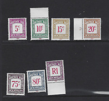 SEYCHELLES SC #J11-14, 16-18 1980  POSTAGE DUE MINT NEVER HINGED  FREE SHIPPING