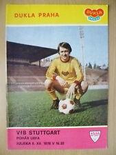 1978 UEFA CUP- DUKLA PRAHA v VFB STUTTGART