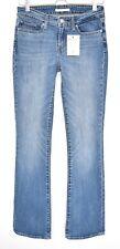 Ladies Levis 715 BOOTCUT Blue Mid Rise Stretch Jeans Size 10 W28 L34 LONG