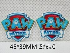 5 x 46mm PAW PATROL LASER CUT FLAT BACK RESIN HEADBANDS HAIR BOWS CARD MAKING