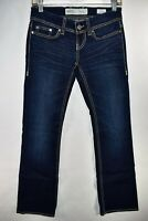 BKE Stella Buckle Bootcut Boot Stretch Womens Jeans Sz 25R Medium Meas. 27x30.5