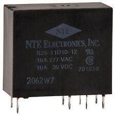 NTE R25-11D10-12 10A 12VDC DPDT Epoxy Sealed PCB Relay