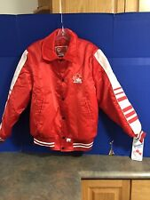 New w/Tags Shain 1984 Olympics Official Team Canada Hockey Jacket Red Satin