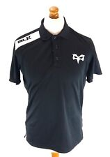 BLK OSPREYS Mens Rugby Polo Shirt S Small Black Polyester