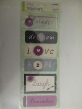 Colorbok  Big Sticker Sheet Stickers INSPIRATIONS PHRASES- 2 Sheets 4x10 EACH
