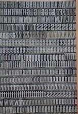 Bleischrift 10,5 mm Bleisatz Handsatz Bleiletter Steckschrift Druck letterpress