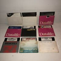 "UNTESTED Vintage Lot of Commodore 64 Video Games 9 Original 5.25"" Floppy Discs"