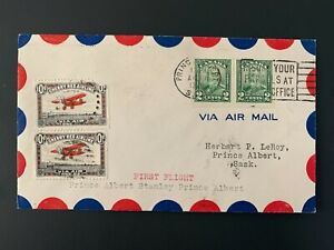 Cherry Red Airline First Flight 1929 Canadian Cover King George V #150