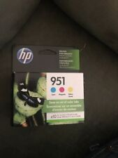 NEW Genuine HP 951 Printer Ink Cartridge,Magenta/Cyan/Yel (CR314FN) Exp Mar 2020