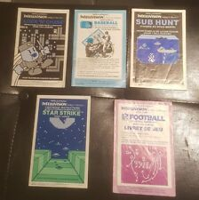 Lot de 5 livret instruction intellivision en francais