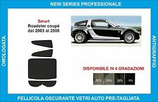 pellicole oscuranti vetri  smart roadster coupè dal 2003 al 2006 kit posteriore