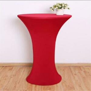 Party Wedding Cocktail Table Cover Base Stretch Polyester Tablecloth Decor J
