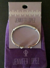 Bracelet Silver Tone Crystal Pyramid w/ bag New - Jennifer Lopez Open Flex Cuff