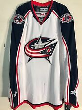 Reebok Authentic NHL Jersey Blue Jackets Team White sz 60