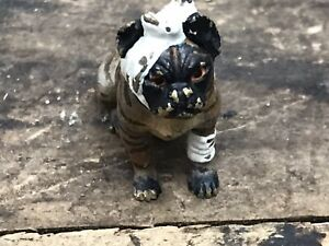 Antique / Vintage Miniature Cold Painted Bronze Bandaged Bulldog / Bull Terrier