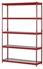 "Muscle Rack 48""W x 24""D x 72""H 5-Shelf Steel Wire Shelving Unit, 2500 lb Capacit"